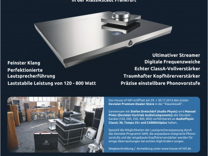 Eröffnung des exklusiven Devialet Premium-Dealer-Store am 29./30.11.2014 in der Klassikstadt Frankfurt