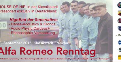 MEGA-EVENT in der Klassikstadt Frankfurt am Sonntag, 13.09.2015
